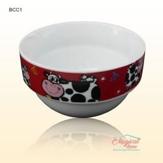 Bol ceramic BCC1-02 rosu decor copii
