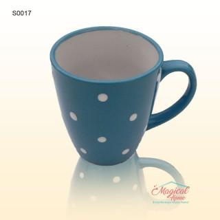 Cană ceramică decor uni cu buline S0017-02