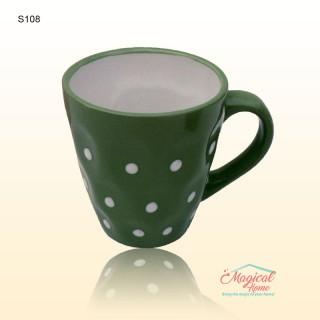 Cană ceramică S108 V decor rustic
