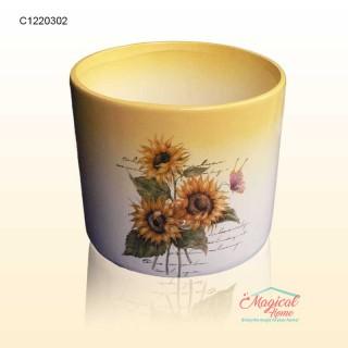 Mască ghiveci flori 11,5cm ceramică Floarea Soarelui