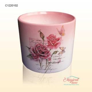 Mască ghiveci flori 11,5cm ceramică Trandafiri