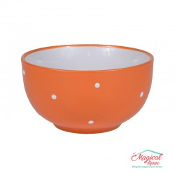Bol supă ceramic BB-223 PORTOCALIU decor uni