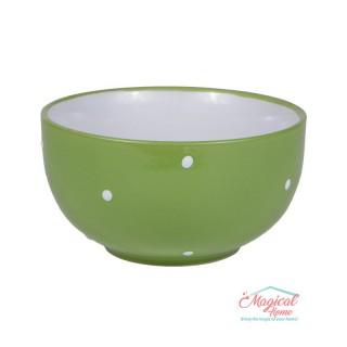 Bol supă ceramic BB-223 VERDE decor uni