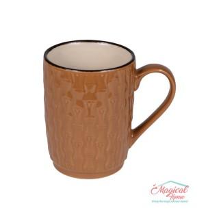 Mai multe despre Cană ceramică decor uni H2H3-12 maro