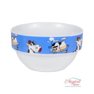 Bol ceramic BCC1-03 albastru decor copii