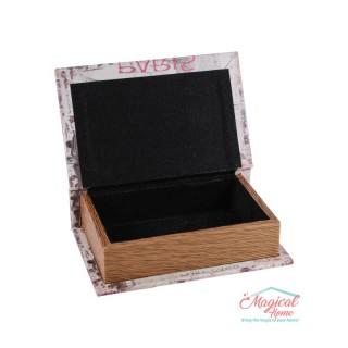 Cutie medie pentru bijuterii1101pictată, din lemn