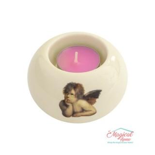 Suport pentru lumânare tip pastilă, din ceramică 618-03