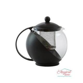 Ceainic din sticlă și plastic 1250ml cu filtru metalic
