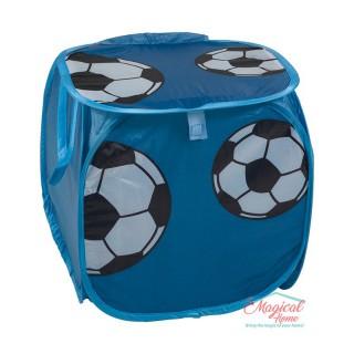 Sac textil depozitare 35x35cm SJ2-10 albastru minge