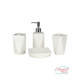 Set ceramică baie 29121-112, 4 piese, alb