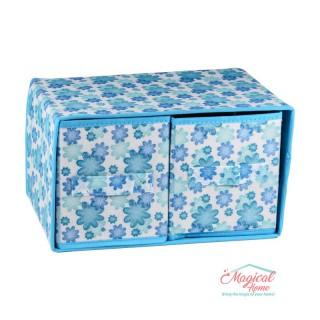 Set cutii depozitare CD6-04 bleu decor floral