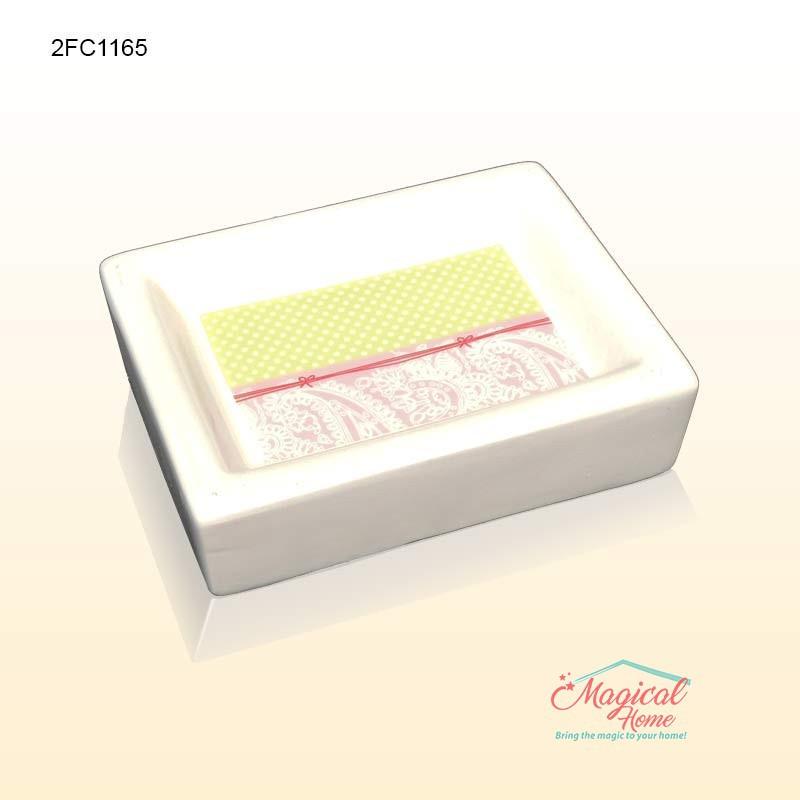 Set ceramic pentru baie 2FC1165 - savoniera sapun solid