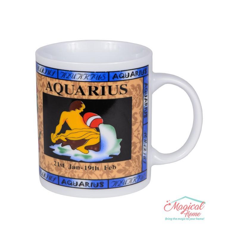 Cană ceramică Horoscop Multicolora A18-Varsator