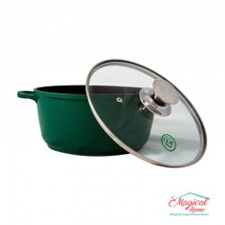 Cratita tip tuci din aluminiu teflonat GR1004 Grunberg verde 24cm