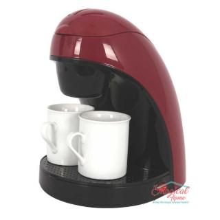 Filtru de cafea 450 W, 2 Căni, Roşu/Negru, Victronic VC609