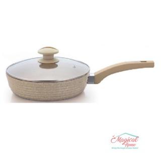 Mai multe despre Tigaie aluminiu 24 cm interior ceramică capac sticlă, Grunberg