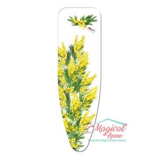 """Husă pentru masa de călcat """"S"""" 120x43 cm decor flori galbene"""