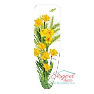 """Husă pentru masa de călcat """"M"""" 132x48 cm decor Narcise"""