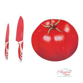 Set tocător cu 2 cuțite Grunberg GR135 roşu