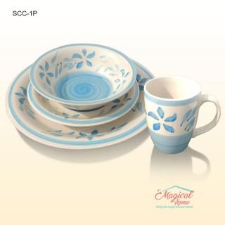 Set cină pentru o persoană cu 4 piese ceramică M002