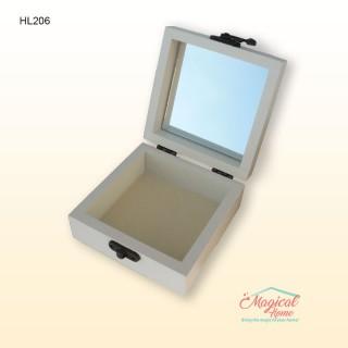 Cutie pentru bijuterii HL-206, din lemn