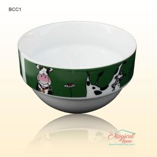 Bol ceramic BCC1-01 verde decor copii
