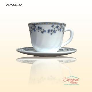Set cafea opal 744 cu 12 piese 6 cești și 6 farfurioare