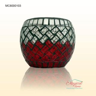 Suport lumanare din sticla si ceramica MC8000103