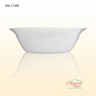 Bol cereale opal 17cm uni alb BSL-17BR Bormioli Rocco