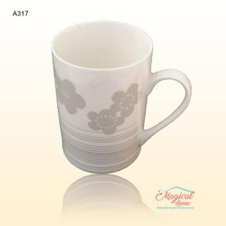 Cană ceramică decor floral A317