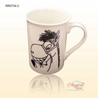 Cană ceramică RR0734-2 decor copii, măgăruș