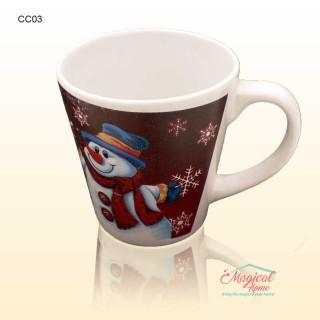 Cană ceramică decor Crăciun CC03