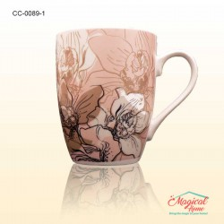 Cana ceramica decor floral 0089-1